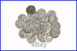 Roll of 40 $10 Face 90% Silver Standing Liberty Quarters No Dates BULK Bullion