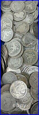 Roll of 40 $10 Face Value 90% Silver Barber Quarter Dollars AG/G+ Full Dates