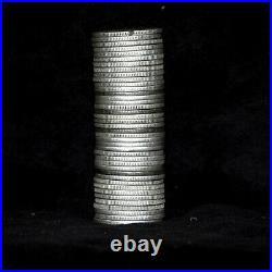 Roll of 40 1941 to 1964 Washington Silver Quarters 90% Silver circulated