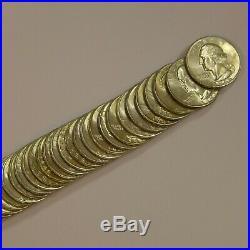 Roll of (40) 1946-D 25C Washington Silver Quarters Choice BU Original Rolls