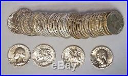 Roll of (40) 1976-S 25C Washington Bicentennial Quarters Silver Gem BU