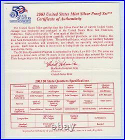 Roll of 40 2003-S Proof Missouri 90% Silver Quarters
