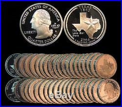 Roll of 40 2004-S Proof Texas 90% Silver Quarters