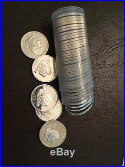 Roll of 40 2005-S Proof Kansas 90% Silver Quarters