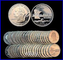 Roll of 40 2005-S Proof Minnesota 90% Silver Quarters
