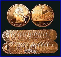 Roll of 40 2007-S Proof Utah 90% Silver Quarters