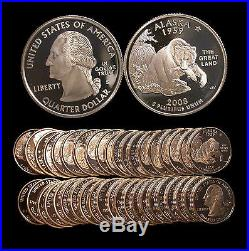 Roll of 40 2008-S Proof Alaska 90% Silver Quarters