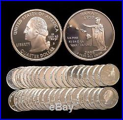 Roll of 40 2008-S Proof Hawaii 90% Silver Quarters