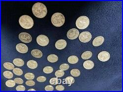 Roll of 40 90% Silver Circulated Washington Quarters face value 10.00