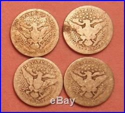 Roll of 40 Circulated Barber Quarters with Some Little Better Dates