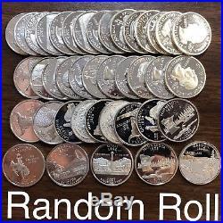 Roll of 40 SILVER Proof Washington Quaters Random Dates