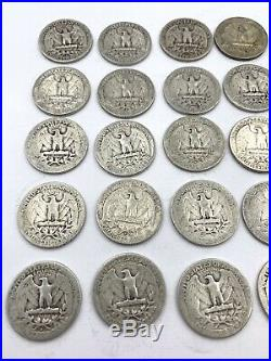 Roll of 40 Silver Quarters $10 Face Value 90% Silver