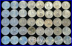 Roll of (40) Washington 90% Silver Quarters