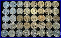 Roll of (40) Washington 90% Silver Quarters $10 Face Value