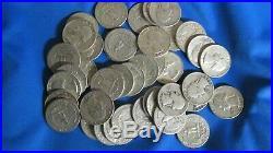 Roll of 40 Washington Quarters $10 Face Value 90% Silver Mixed Dates + BONUS