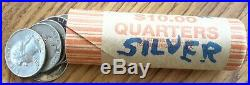 Roll of 40 Washington US Quarters $10 Face Value 90% Silver Coins
