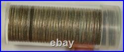 Roll of BU 1946 Washington Quarters 25c 40 90% Silver Coins Brilliant Uncirculat