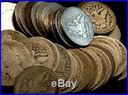 Roll of Barber Silver Quarters 25c CULL $10 FV (40 Coin) ECC&C, Inc