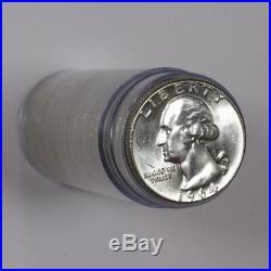 Roll of Frosty White 1964 Washington Quarter GEM BU #CJB066