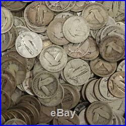 Roll of Standing Liberty Quarters 90% Silver Mixed Dates $10 Face Value