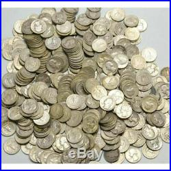 Roll of USA silver Washington Quarters