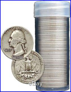 SALE FULL DATES Roll Of 40 $10 Face Value 90% Silver Washington Quarters