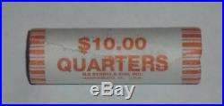 Sealed Roll of 40 Washington Quarters Mixed Dates Circulated 90% Silver