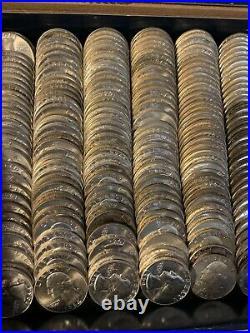 Silver BU Washington Quarters 90% Silver Coins 8 Rolls $80 Face Value UNC Lot
