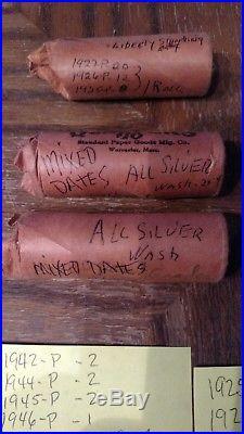 Silver Halves / Quarters & Dimes 90% 6 Rolls Free Shipping