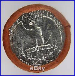 Silver Washington Quarter Roll $10 BU Uncirculated D Unknown Year 1932-1964 B1