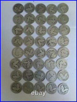 Standing Liberty Quarter- $10.00 Face 90% Silver- Roll of 40