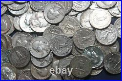 Three Rolls Of Washington Quarters (120 Coins) 90% Silver (1950-59) Lot H88