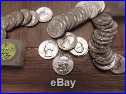 Unc/bu Roll Of Washington Silver Quarters. Price Of Silver Going Much Higher
