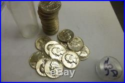 Uncirculated Roll of 1955 D Washington Silver Quarters 40 Coins