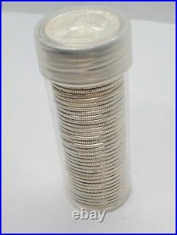 Uncirculated Silver Washington Quarter Roll 1958-1964 90% BU 40 Coins