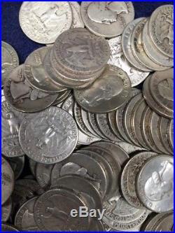 WASHINGTON QUARTERS (1932-64) 90% Silver (120coins) Three Rolls
