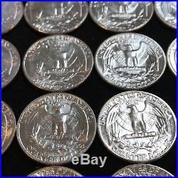 WASHINGTON QUARTER FULL BU ROLL 1960-1964 SILVER (40 coins $10) #S47