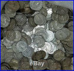 WASHINGTON Quarters x 40 Roll 90% SILVER $10 face value AVG CIRC+ with pic