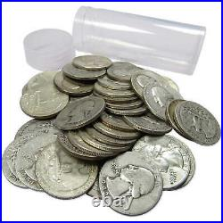 Washington 90% Silver Quarter Dollar Roll Culls Lot of 40 Mixed Date Pieces