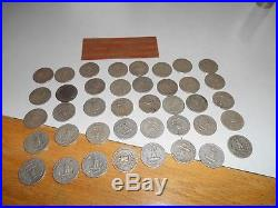 Washington 90% Silver Quarters full roll (40) All dates in 1950's