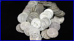 Washington Quarter Roll, 40 silver coins, $10 Face, 1964 and before