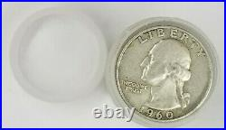 Washington Quarter Roll Silver 90% $10 40 Coins 1932-1964 PDS FULL DATE WithTUBE