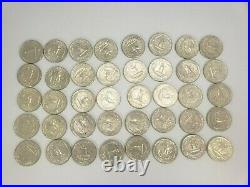 Washington Quarters $10 FV 90% Silver 40/Roll 1964 P&D Discount for Multiples