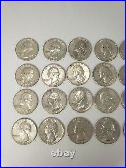 Washington Quarters $10 FV 90% Silver 40/Roll ESTATE SALE 1963/D Better Grades