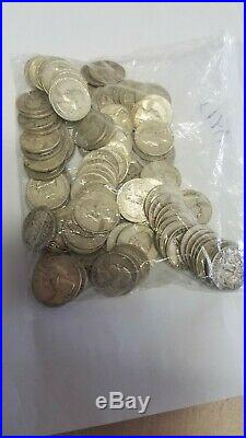 Washington Quarters $10 Face Value 90% Silver Roll 40 Coin Bulk1930xx-1960xx mix