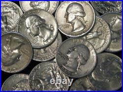 Washington Quarters 90% Silver Lot Of 20 $5 Face 1/2 Roll Mixed Dates/mints L4