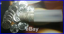 Washington Quarters BU 90% Silver $10 Face Value Roll Of 40 (1963)