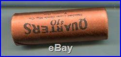 Washington Silver Quarter D Mint $10 Bank Roll 1960's Tail Tail Roll 950k