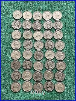 Washington quarters 90 silver roll of 40