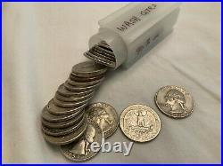Washington silver quarter roll of 40. Free Shipping